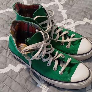 Green High top Converse